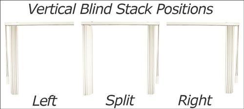 Vertical Blind Stack Positions