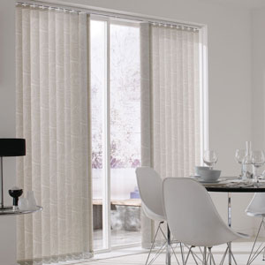vertical blind room setting