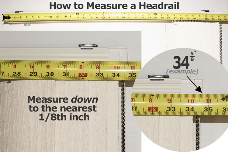 how to measure for a replacement headrail graphic