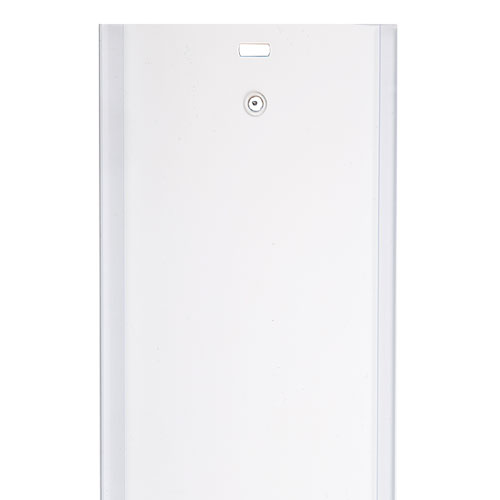 vertical blind vane channel panel base white
