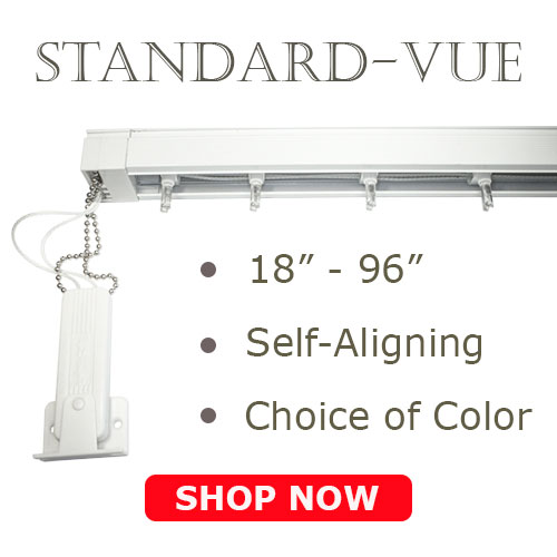 vertical blind standard vue headrail track